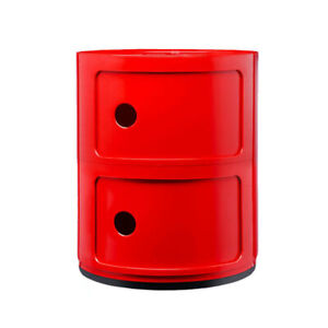 Kartell Container To 2 Drawers 'Componibili' Design A.Castelli, Original, Red