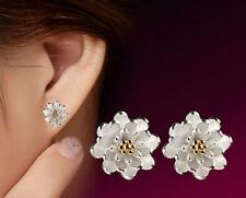 Wholesale 925 Sterling Silver Filled  Earrings Flower Ear Stud Lady Jewelry