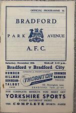 More details for bradford park avenue v bradford city 1954/55