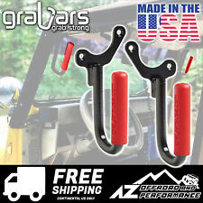 GraBars Front Grab Bars with Red Grips for 1987-1995 Jeep Wrangler YJ 1019R