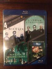 4 Film Favorites Matrix Trilogy Collection, Animatrix (Blu-ray) New