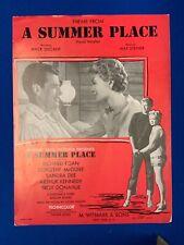 A Summer Place 1959 Sandra Dee Movie Sheet Music
