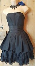 Vintage style goth Lolita steampunk black layered Whitby party dress 8