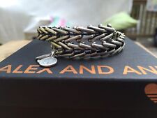 BOX & CARD ALEX and ANI VINTAGE GYPSY 66 Russian SILVER Beaded Wrap BRACELET