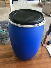 30 gallon plastic open top barrel with lid and locking ring