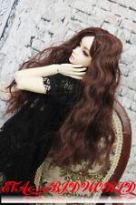 "Brand new 8-9"" 1/3 dollfie BJD SD LUTS BROWN hair wig 13#"