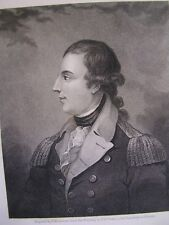 RICHARD MONTGOMERY 1800s Engraved by E.Mackenzie from painting by C.W.Peale.