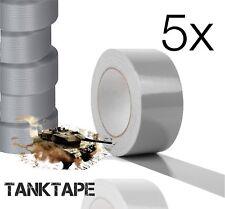 5x Panzertape Klebeband Gewebeklebeband Panzerklebeband Gewebeband Tape silber
