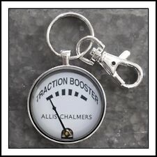 Allis Chalmers Traction Booster Gauge Photo Keychain Tractor Key Chain Gift 🎁🚜