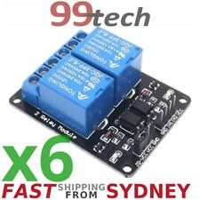 6x Relay Module, 2 Channels, LEDs, 12V 10A Opto Isolated, Arduino, from Sydney