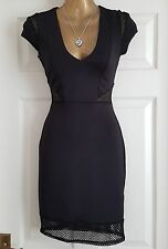 Miss Selfridge Black Bodycon Dress Uk8/Clubbing/Cocktail/Races/Party/Formal New