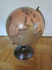 """Globus antiker Stil  704020  auf Messingständer Größe 12"""""""
