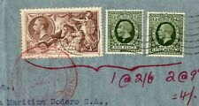 More details for gb 1937  kgv 2/6 sea horse +9dx2 to argentina with german zeppelin type cancel