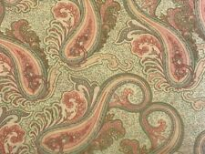 Mint Green Pink FQ Fat Quarter Fabric Paisley Patterns 100% Cotton Quilting