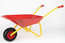 Kinder Schubkarre Metallschubkarre mit Metallwanne in rot bis 50kg belastbar
