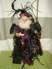 Mark Roberts Collection Jeweled Halloween Crow Bat Fairy Witch Fortune Teller