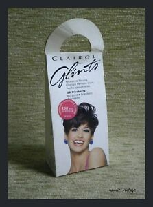 Clairol Glints NIB Shampoo in conditioning Hair Color #39 Blueberry 50ml UK 1994