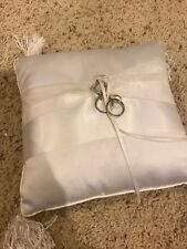 Ring Bearer Pillow White