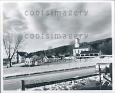 Snow Covered Pownal Center Vermont A Ewing Galloway Press Photo