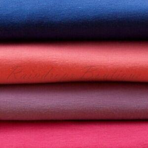 Cotton JERSEY fabric Plain 4 way Stretch Knit wt 320g Tshirt BabyGro Dress Muze
