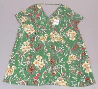 Glamorous Curve Women's Plus S/S Floral Shift Dress MC7 Green Size US:20 NWT