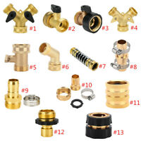 Garden Brass Hose Tap Connector Threaded Ball Valves Water Splitter Pipe Adapter