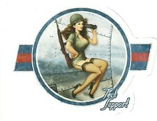ARMY NOSE ART PIN UP GIRL  Sticker Decal