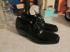 Jeffrey Campbell black heeled square toe derby  laced up oxfords size 6.5