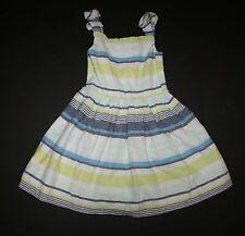 New Gymboree Bow Strap Striped Summer Sun Dress 7 year NWT Blue Safari Line
