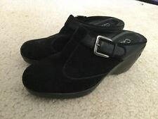 Cole Haan Nike Air Women's Leather/suede Clog Mules Slip on shoes Sz 5.5B Black