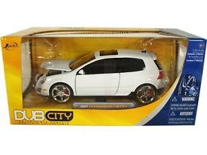 WOW EXTREMELY RARE Volkswagen Golf Mk.5 GTi Tuning 2007 White 1:24 Jada