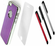 LUXURY PURPLE  ALUMINIUM CHROME Hard Case Cover For iPhone 5G 5 5S SE + SCREEN P