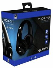 4Gamers PRO4-70 Wired Stereo Gaming Headset Black (PS4)  BRAND NEW AND SEALED