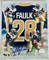 Marshall Faulk Original 8 x 10 Autographed Pic
