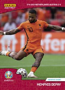 EURO 2020 Panini Instant #19 Memphis Depay Memphis Show Netherlands UEFA PRESALE