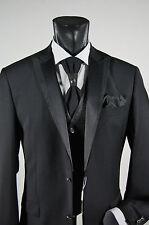 Abito elegante cerimonia uomo Musani Milano nero lana stretch drop 6 taglia 56