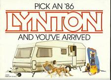 LYNTON V.I.P. RANGE,EXECUTIVE/GL AND SPORT RANGES CARAVAN BROCHURE 1986 + PRICES