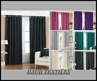 Faux Silk Eyelet Fully Lined Curtains With Tie Backs In Beautiful Colours & Size