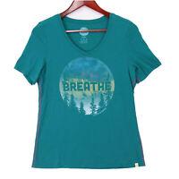 Life is Good Women's Green Breathe T-Shirt Top - Size Medium