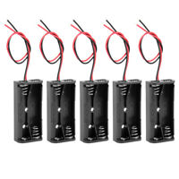 3V Battery Holder Case Storage Box 2 x 1.5V AAA Batteries  Wire Leads 5 pcs