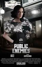 PUBLIC ENEMIES Movie POSTER 27x40 C Johnny Depp Christian Bale Billy Crudup