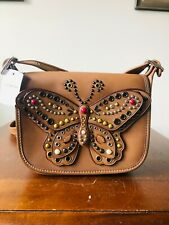 NWT COACH BUTTERFLY STUDDED PATRICIA 23 SADDLE BAG 59353 LIMITED EDITION $550