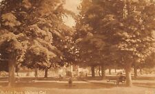 Vallejo Ca Man Sits on Bench in Public Park~8 Steps Up to Bandstand~Cannon~1911