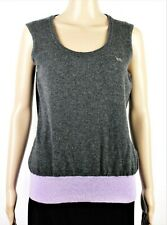 ESCADA SPORT Charcoal Gray Virgin Wool Sleeveless Shell Sweater Tank Top Size M