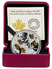 2017 Canada $20 1 oz. Proof Silver Nutty Squirrel Mighty Oak In OGP SKU44819