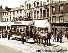 Horse-Drawn Streetcar - cicar 1900 - Historic Photo Print