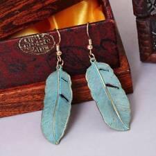 Boho Women Retro Alloy Leaves Pendant Earrings Eardrop Earbob Jewelry Gift