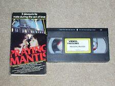 Praying Mantis (Vhs) 1986 Jonathan Pryce, Cherie Lunghi, Horror, Rare