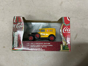 COCA COLA DIE CAST 1930 1/2 TON DELIVERY TRUCK BANK by ERTL - 1/43 SCALE