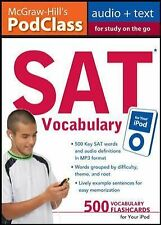 McGraw-Hill's PodClass SAT Vocabulary (MP3 Disk): Master 500 Key Words for Test